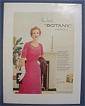 1954 Botany Yarn with Woman Standing In Dress