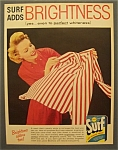 1957 Surf Detergent w/Woman Looking at Striped Shirt