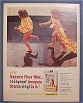 1958 Simoniz Vinyl Floor Wax with Pair of Wet Girls