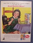 1958  Post  Raisin  Bran  Cereal  By  Dick  Sargent