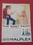 1958 Dutch Boy Nalplex Paint w/2 Men Offering to Paint