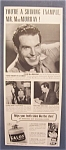 1941  Calox  Tooth  Powder  with  Fred  MacMurray