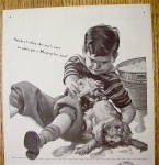 Click to view larger image of 1944 Maytag Washers with Boy Giving Dog A Bath (Image3)