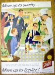 Vintage Ad: 1958 Schlitz Beer (Friday Night Schlitzfry)