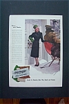 1942 Forstmann Woolen Company with Woman By Sleigh
