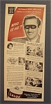 Vintage Ad: 1940 Calox Tooth Powder with Basil Rathbone