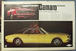 1966 Chevrolet Camaro Ad with Convertible & Coupe
