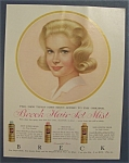 1962 Breck Shampoo with a Blonde Haired Woman