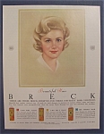 1962 Breck Shampoo with a Beautiful Woman
