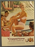1968 Coppertone Suntan Lotion with Mitzi Gaynor