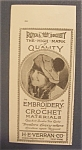 1918  Royal  Society  Embroidery  &  Crochet  Materials