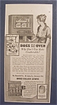 Vintage Ad: 1917 Boss Glass Door Oven
