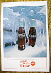 1964 Coca-Cola (Coke) with Two Bottles in Snow