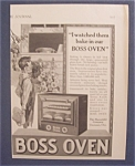 Vintage Ad: 1923  Boss  Oven
