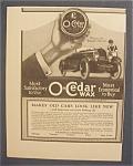 1923  O - Cedar  Wax
