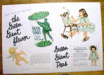 Vintage Ad: 1956 Green Giant Sweet Peas w/Girl Doll