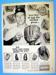 1962 Rawlings Baseball Glove Ad with Mickey Mantle