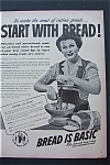 1943 Bread Is Basic with Woman Whipping Food in Bowl