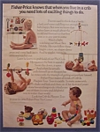 1974 Fisher-Price Crib & Playpen Toys w/ 4 Babies