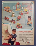 1967 Fisher-Price Toys with Different Fisher Price Toys