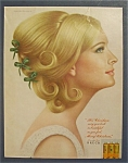 1967 Breck Shampoo with Lovely Side View of Woman