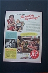 1943 A & P Super Markets with Mother feeding Baby