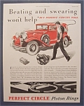 Vintage Ad: 1932 Perfect Circle Piston Rings