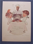 1917 Cream Of Wheat Cereal Ad with 2 Children