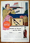 1954 Coca Cola (Coke) with a Woman at the Airport