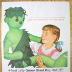 Click to view larger image of 1962 Jolly Green Giant with Girl & Green Giant Rag Doll (Image2)