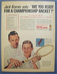 1963  Wilson  Tennis  Balls  with  Jack  Kramer