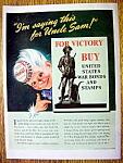 Click to view larger image of 1943 Coca Cola (Coke) w/Man Wearing Coca Cola Soda Cap (Image1)