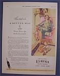 Vintage Ad: 1930  Eureka  Vacuum  Cleaner