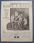 1929 Ride A Bike with Santa Claus & 3 Children on Bikes