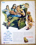 Click to view larger image of 1973 La-Z-Boy Reclining Chair w/Family on Father's Day (Image1)