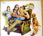 Click to view larger image of 1973 La-Z-Boy Reclining Chair w/Family on Father's Day (Image2)