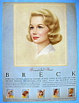 Click to view larger image of 1962 Breck Shampoo w/Blue Eyed Breck Woman (Image1)