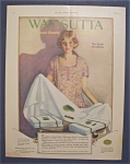 1923 Wamsutta Percale Sheets & Pillow Cases w/ Woman