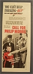Click here to enlarge image and see more about item 9815: Vintage Ad: 1942 Philip Morris Cigarettes with Bellboy