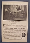 1906 Edison Phonograph with Man & Woman Listening