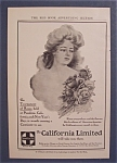 Vintage Ad: 1906 Santa Fe The California Limited