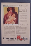 1931 Carnation Milk with Mother Holding Baby