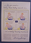 1932 Ivory Soap with a Baby Taking a Bath