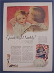 1931 Ralston Wheat Cereal with Woman Kissing Baby