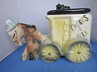 American Bisque Donkey Pulling Cart Cookie Jar