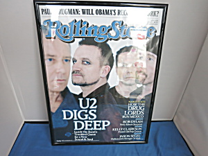 Rolling Stones U2 Digs Deep Framed Magazine Cover
