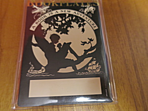 Antioch Bookplate Silhouette Of A Boy Reading
