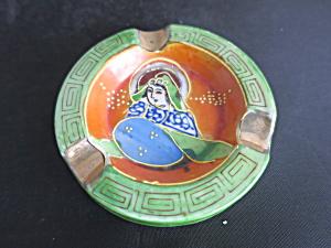 Made in Japan Hand Painted Geisha Girl Ashtray Moriage (Image1)