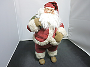 Santa With Sak Doll Figurine