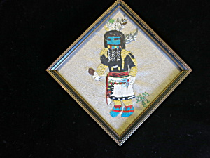 Vintage Hopi Indian Kachina Doll Angakchina Embroidery